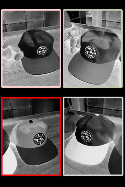 acc462. color patch cap [4color]