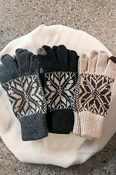 acc1139. snow flake gloves [3color]