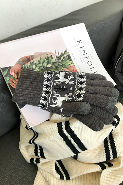 acc1148. snow deer gloves [5color]