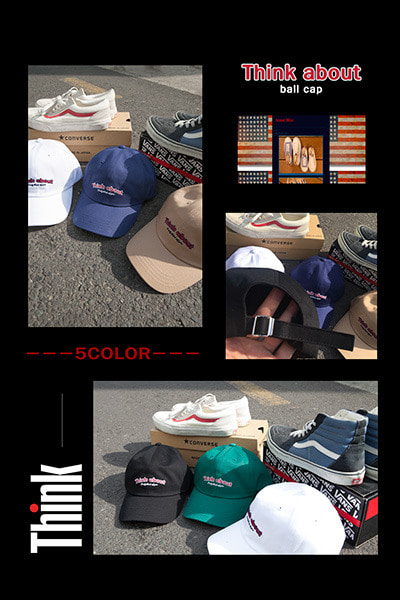 acc1159. think about ball cap [5color]
