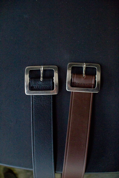 acc411. 4angle leather belt [2color]