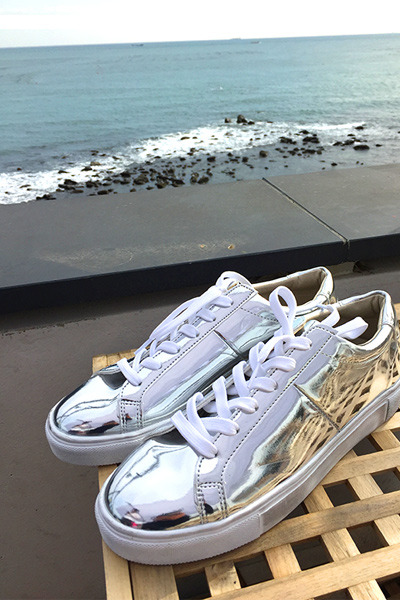 acc964. silver star sneakers