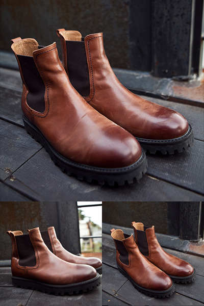 acc973. high quality brown boots