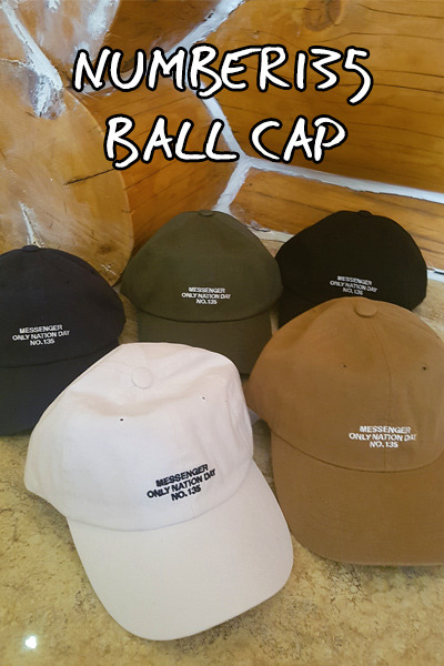 acc1021. number135 ball cap [5color]
