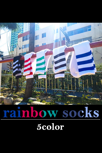 acc1038. rainbow socks [5color]