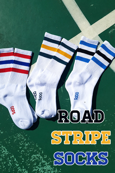 acc1014. road stripe socks [3color]