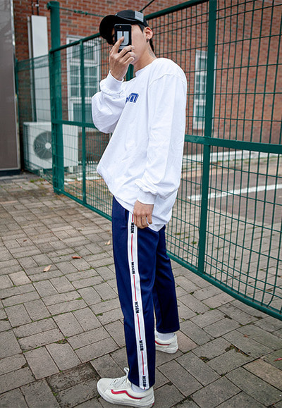 pants1247. ms line track pants [2color]