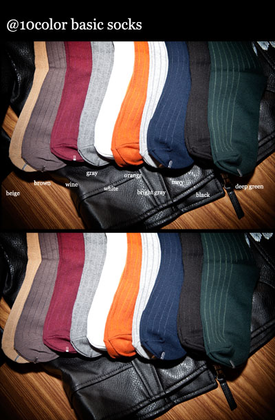 acc269. socks basic 2 [10color]