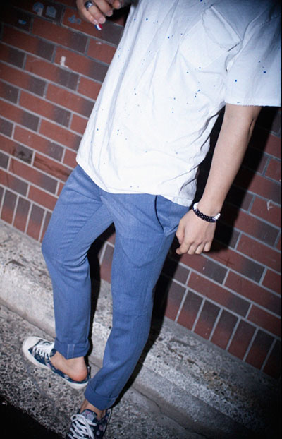 pants196. purple slacks,,,, [SOLDOUT]